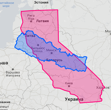 Настоящий размер стран без искажений